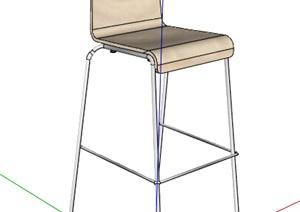 现代风格酒吧高脚凳模型
