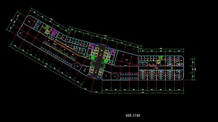 现代流线型造型生态绿色医疗疗养院规划建筑设计文本+CAD+效果图(8)