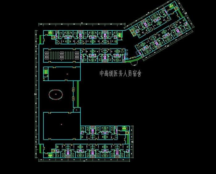 现代流线型造型生态绿色医疗疗养院规划建筑设计文本+CAD+效果图(9)
