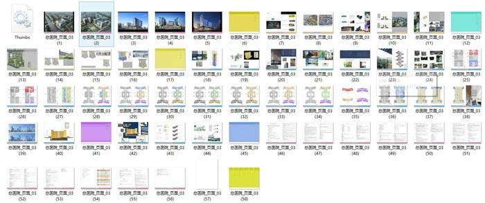 现代大型医院疗养院规划建筑设计文本图片+cad+效果图(2)