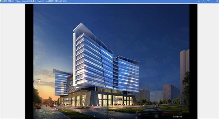 现代大型医院疗养院规划建筑设计文本图片+cad+效果图(5)