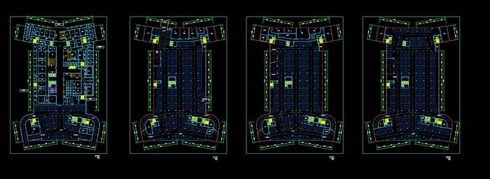 现代大型医院疗养院规划建筑设计文本图片+cad+效果图(7)