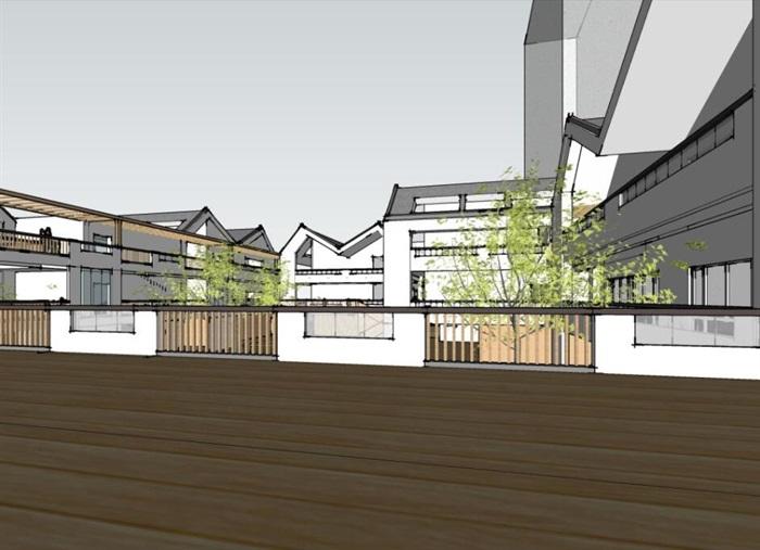 现代创意折线坡屋顶庭院式幼儿园设计[原创]
