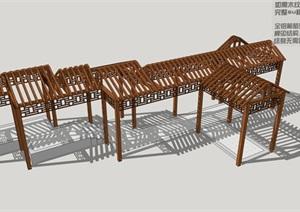 181014铝合金廊架 防腐木廊架 长廊 组合廊架 人字顶长廊