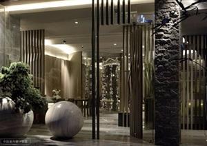 现代风格日料店室内设计方案图及效果图