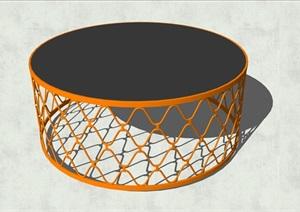 精致簡約特色圓形茶幾設計SU(草圖大師)模型