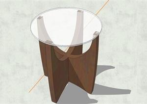 精致簡約特色玻璃茶幾設計SU(草圖大師)模型