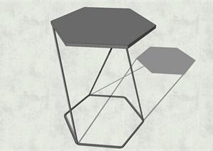 精致簡約特色六邊形茶幾設計SU(草圖大師)模型