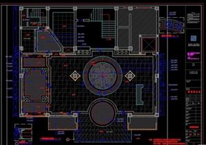 大堂设计cad施工图