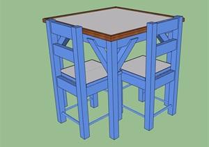 现代桌椅素材设计SU(草图大师)模型
