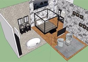 某酒店空间素材设计SU(草图大师)模型