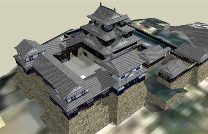 su中国日本古建筑模型[原创]