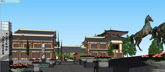 仿古汉代主题旅游休闲景区商业步行街风情区规划古建筑设计[原创]