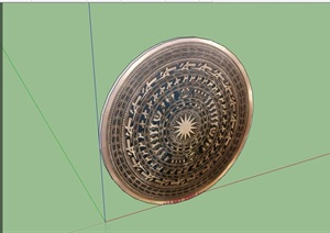 園林景觀圓形小品素材設計SU(草圖大師)模型