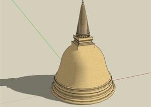 東南亞風格獨特塔素材設計SU(草圖大師)模型