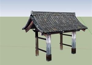 古典中式風格獨特亭子SU(草圖大師)模型