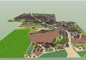 现代风格城市规划建筑素材设计SU(草图大师)模型