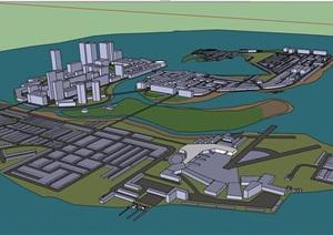 某城市规划建筑群设计SU(草图大师)模型