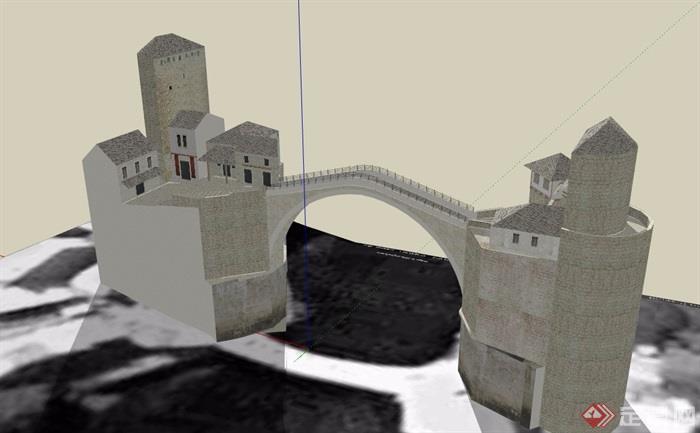 某欧式风格桥公司v风格su素材[原创]青岛知名包装设计模型图片