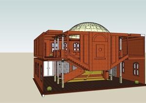 现代风格详细楼梯踏步素材设计SU(草图大师)模型