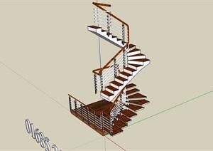 某建筑樓梯素材設計SU(草圖大師)模型