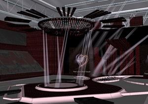 現代演唱會舞臺設計SU模型4