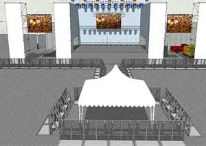 現代演唱會舞臺設計SU模型 5