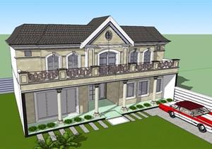 美式住宅別墅SU(草圖大師)模型
