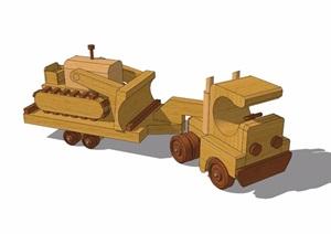 兒童游樂設施火車素材SU(草圖大師)模型