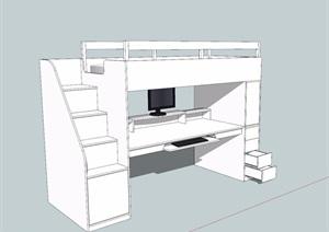 無材質貼圖床柜素材SU(草圖大師)模型