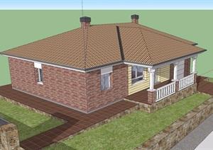 民居歐式住宅別墅SU(草圖大師)模型