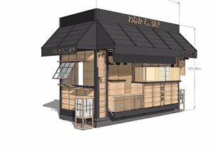 日式風格售賣小屋設計SU(草圖大師)模型