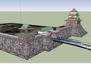寺廟詳細設計SU(草圖大師)模型