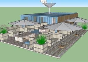 某現代風格部分住宅設計SU(草圖大師)模型