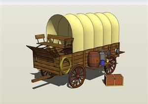 货车小品素材设计SU(草图大师)模型