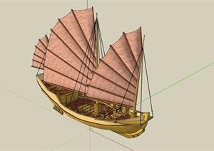 帆船素材设计SU(草图大师)模型