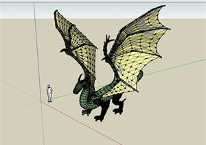飞龙素材设计SU(草图大师)模型