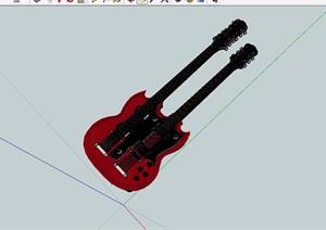 贝斯素材设计SU(草图大师)模型