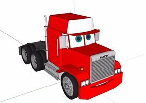货车车头设计SU(草图大师)模型