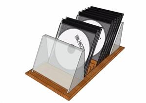光碟室内摆件素材设计SU(草图大师)模型