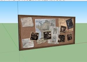 某室内墙体墙饰素材设计SU(草图大师)模型