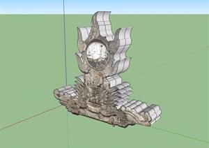 园林景观小品详细素材设计SU(草图大师)模型