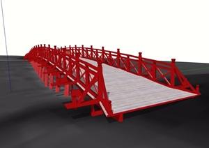 古典中式风格详细园桥素材设计SU(草图大师)模型