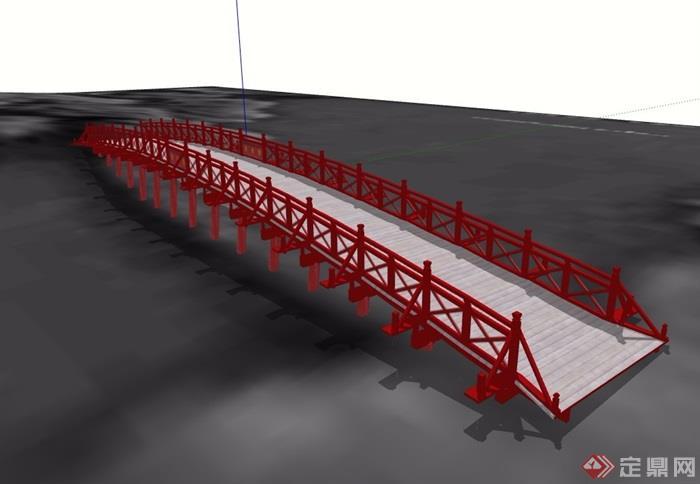 古典中式学生详细园桥模型设计su素材[原创]关爱风格海报设计图片