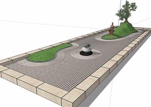 园林景观道路素材设计SU(草图大师)模型