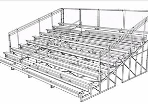 某工业风楼梯素材设计SU(草图大师)模型