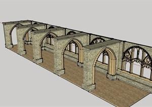 欧式风格门窗素材设计SU(草图大师)模型