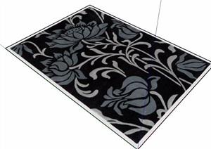 莲花地毯挂毯块毯素材设计SU(草图大师)模型