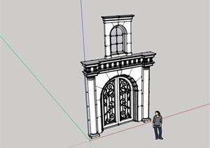 欧式风格门窗建筑素材SU(草图大师)模型