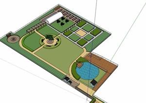 现代风格农业园区素材设计SU(草图大师)模型